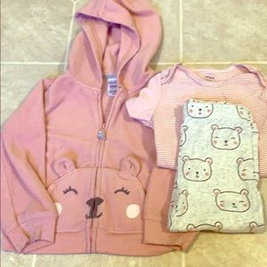 Carter's Baby Girl 3pc Outfit - 24 Months